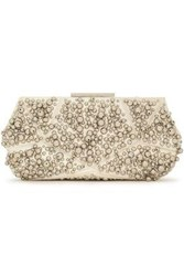 Roger Vivier Woman Studded Leather Clutch Off White Off White