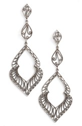 Argentovivo Women's Argento Vivo Marquee Drop Earrings Silver