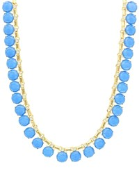 Sparkling Sage Stone Collage Statement Necklace Compare At 117 Gold Blue