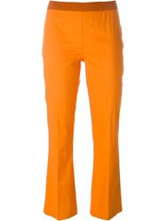 Twin Set Cropped Flared Trousers Yellow And Orange