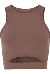 Year Of Ours Cutout Stretch Sports Bra Taupe