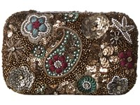 Alice Olivia Metallic Paisley Hard Shell Clutch Multi Clutch Handbags