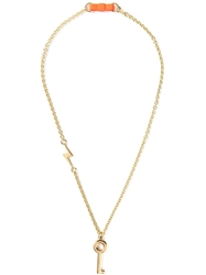 Marc By Marc Jacobs 'Key Bow Tie' Necklace Metallic