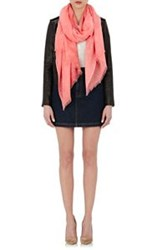 Barneys New York Women's Fringed Cashmere Scarf Pink
