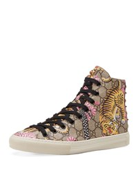 Gucci Major High Top Gg Tiger Canvas Sneaker Multi Multi Colored