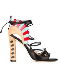 Paula Cademartori 'Lotus' Sandals Black