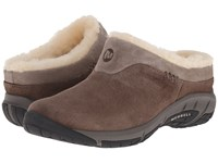 Encore Ice Merrell Stone Leather Women's Clog Shoes Brown