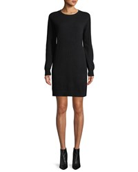 Neiman Marcus Cashmere Sweatshirt Dress Black