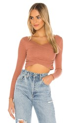 Lovers Friends Everly Top In Rose. Rose Tan