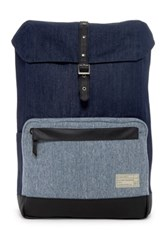 Hex Accessories Stinson Print And Denim Backpack Blue