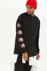Forever 21 Nfl 49Ers Long Sleeve Tee Black Red