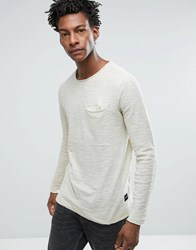 Only And Sons Crew Neck Sweat With Pocket Beige