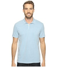 Lucky Brand Sueded Polo Dusty Blue Men's Clothing