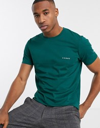 Selected Homme Chest Logo T Shirt In Green
