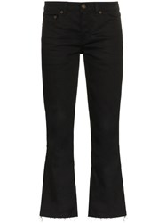 Saint Laurent Cropped Flared Jeans Black