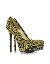 Philipp Plein High Heel Orient Platform Pump Black