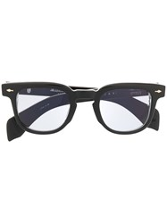 Jacques Marie Mage Square Frame Glasses Black