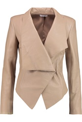 Helmut Lang Asymmetric Leather Jacket Nude