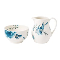 Wedgwood Blue Bird Sugar Bowl And Creamer Set