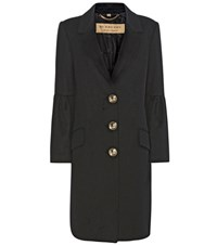 Burberry Samborne Wool And Cashmere Coat Black