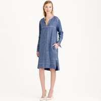 J.Crew Collection Japanese Chambray Shift Dress