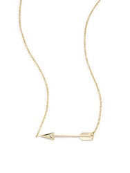 Saks Fifth Avenue 14K Yellow Gold Arrow Pendant Necklace