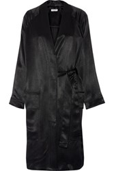 Opening Ceremony Belted Satin Twill Kimono Jacket Black