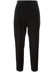 Max Mara Loose Fit Cropped Trousers Black