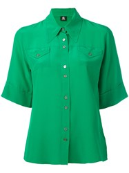Paul Smith Ps By Shortsleeved Shirt Women Silk 44 Green