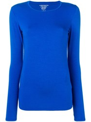 Majestic Filatures Long Sleeved Top Blue
