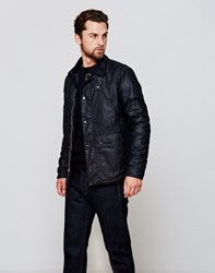 Barbour Reelin Wax Jacket Navy