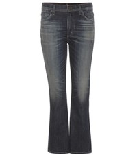Citizens Of Humanity Fleetwood Cropped High Rise Flared Jeans Blue
