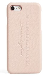 Burberry Leather Iphone 7 Case Pink Pale Ash Rose
