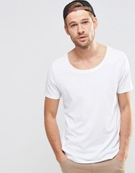 Asos T Shirt With Scoop Neck White