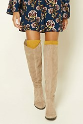Forever 21 Fuzzy Knit Over The Knee Socks