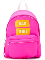 Joshua Sanders 'Bad Girl' Backpack Pink And Purple