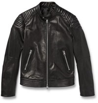Tom Ford Quilted Leather Biker Jacket Black
