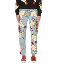 Discount Universe Sequin Embellished Regular Fit Mid Rise Jeans Multi Coloured