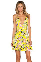 Nbd X Naven Twins Everytime Skater Dress Yellow