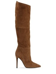 Steve Madden 110Mm Over The Knee Faux Suede Boots Beige
