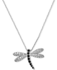 Giani Bernini Cubic Zirconia Dragonfly Pendant Necklace In Sterling Silver Created For Macy's