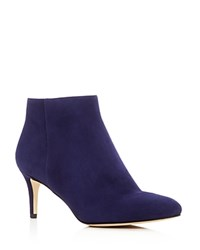 Via Spiga Aurora Mid Heel Booties Deep Blue