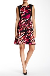 Nine West Lave Drop Sleeveless Fit And Flare Dress Multi