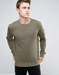 French Connection Crew Neck Sweat With Pocket Green