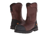 Timberland Caprock Alloy Safety Toe Wellington Brown Smooth Leather Men's Work Boots