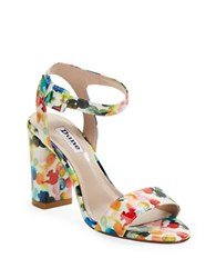 Dune Melrose Floral Heels Multi Colored