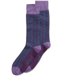 Alfani Men's Geodesic Grid Socks Only At Macy's Grape Heather