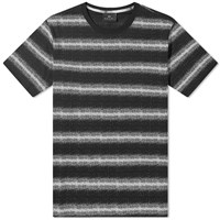 Paul Smith White Noise Stripe Tee Black