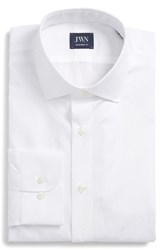 John W. Nordstrom Big And Tall Traditional Fit Dobby Dot Dress Shirt White