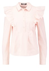 Fashion Union Clarissa Blouse Peach Pink